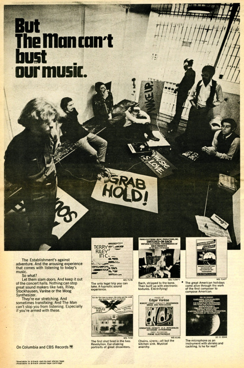 "Nowadays it may be hard not to think of CBS or Columbia Records as ""The Man"", but circa 1967, they weren't your dads old record company (or so they wanted you to think)."