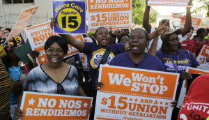 Black women have been integral to the SEIU's #fightfor15 campaign, an intra-trade  endeavor for a decent living wage.
