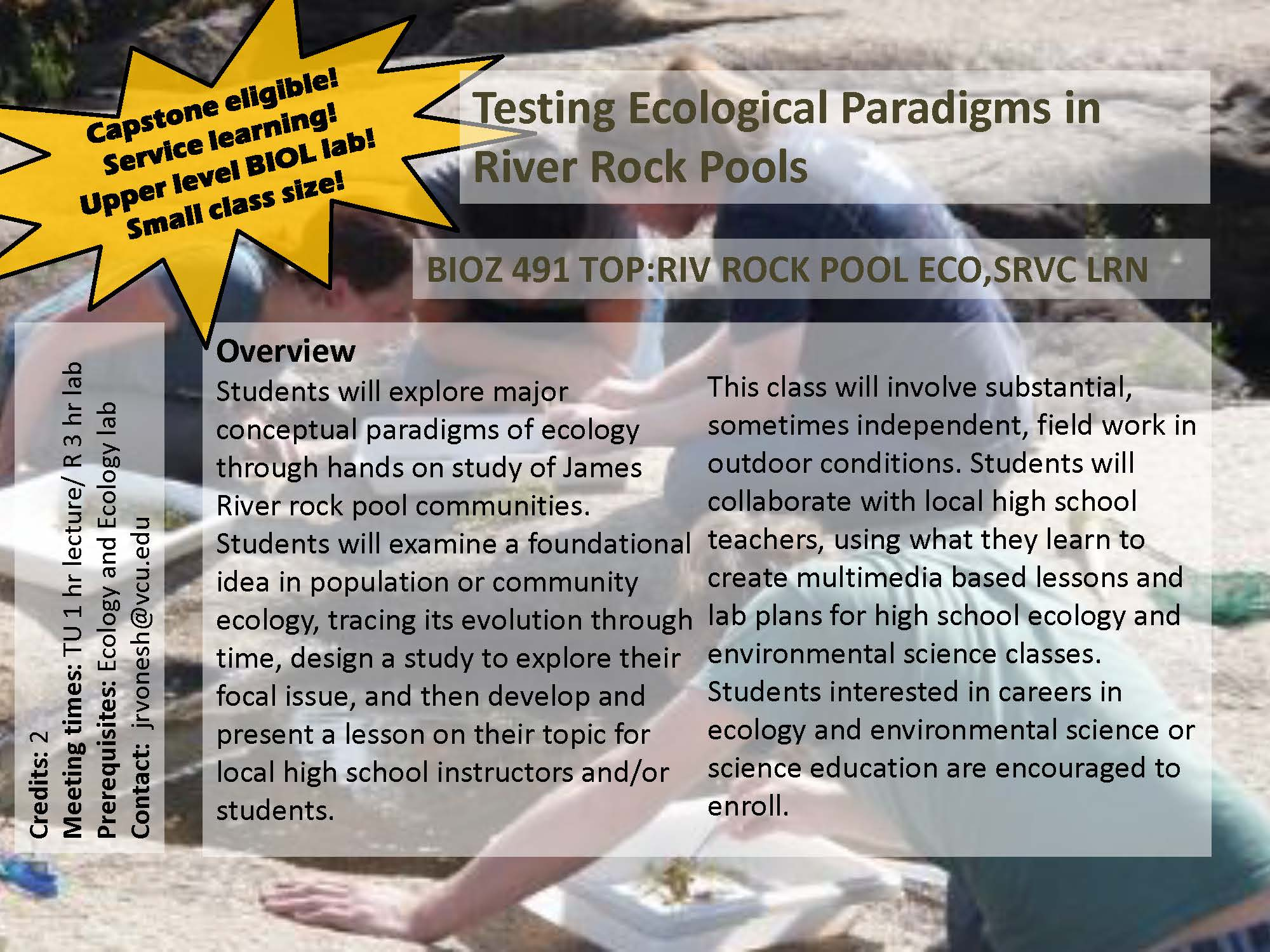 rock pool course flier