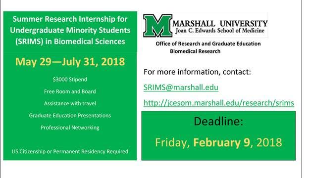 Summer Research Internship for Undergraduate Minority Students in Biomedical Sciences