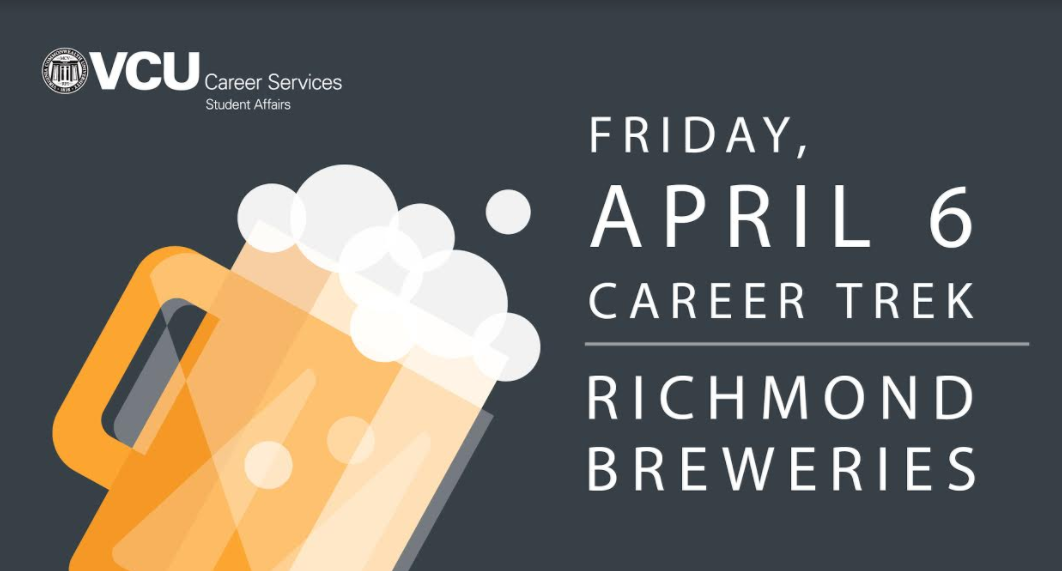 VCU Career Services hosts Career Trek: Richmond Breweries on Friday, April 6th
