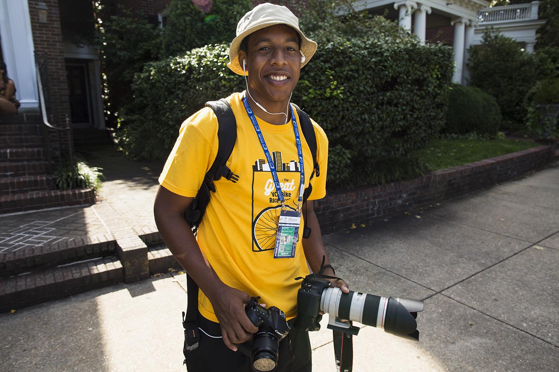 VCU student/ace photographer Travis Ellison covers the UCI Road World Championships 2015, Richmond, VA, team time trials, Richmond, VA. September 20, 2015