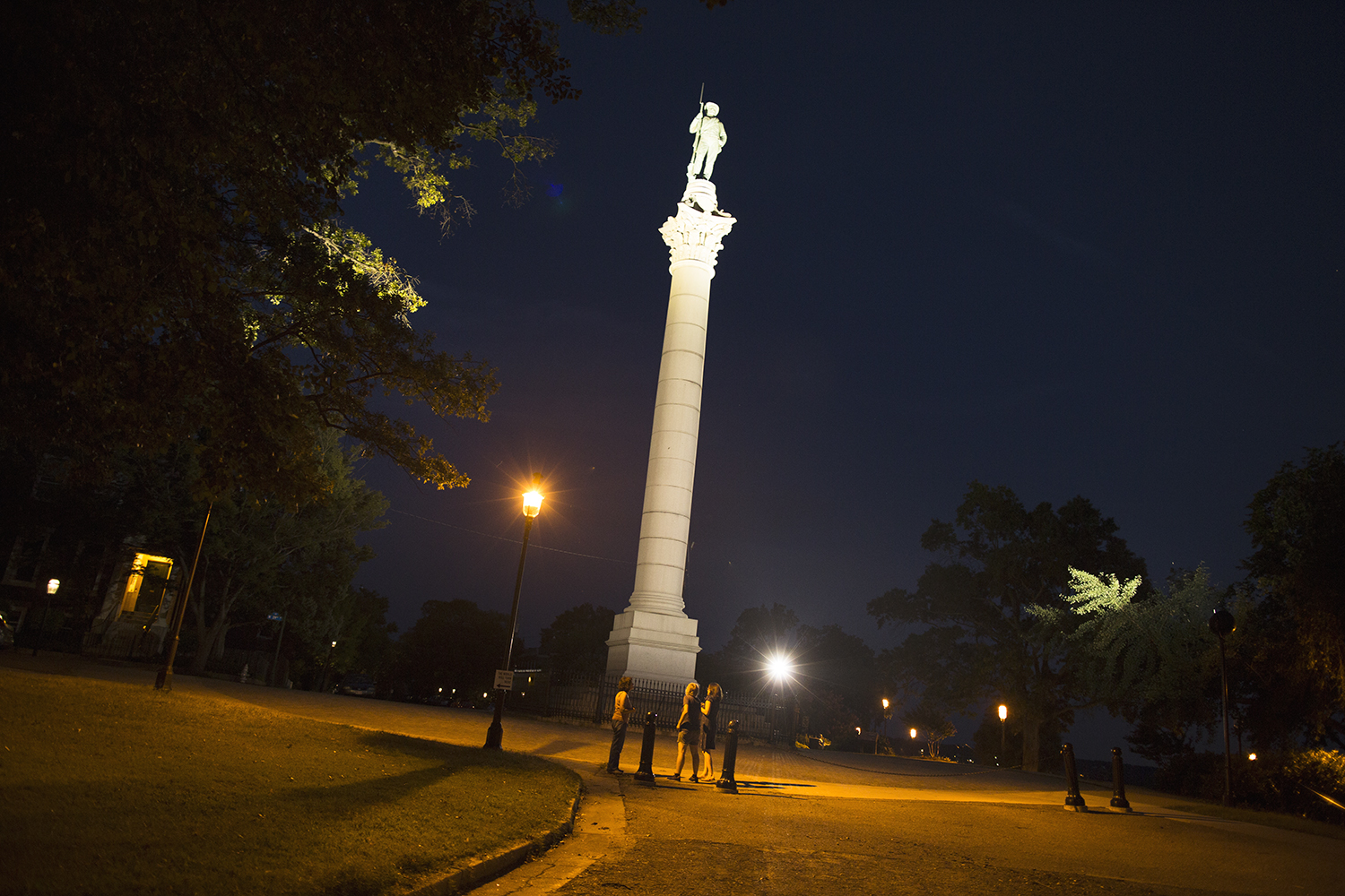 Confederate soldiers and sailors monument, Richmond, Virginia, August 8, 2015