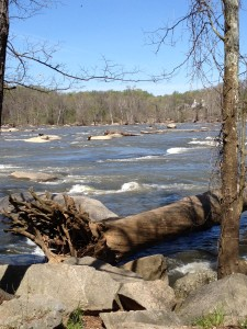 """the James River. Richmond carries the nickname """"the River City""""."""