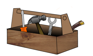 cartoon image of a toolbox