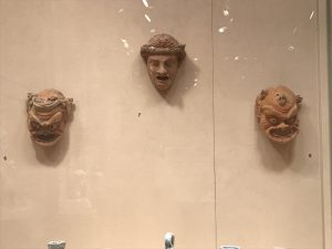 slave masks and young boy mask - theater