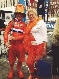 Couple from Holland enjoying the race.