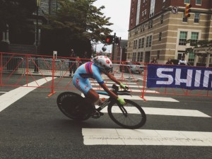 Mongolian rider in the first wave of the Women's Elite Time Trial on Tuesday.