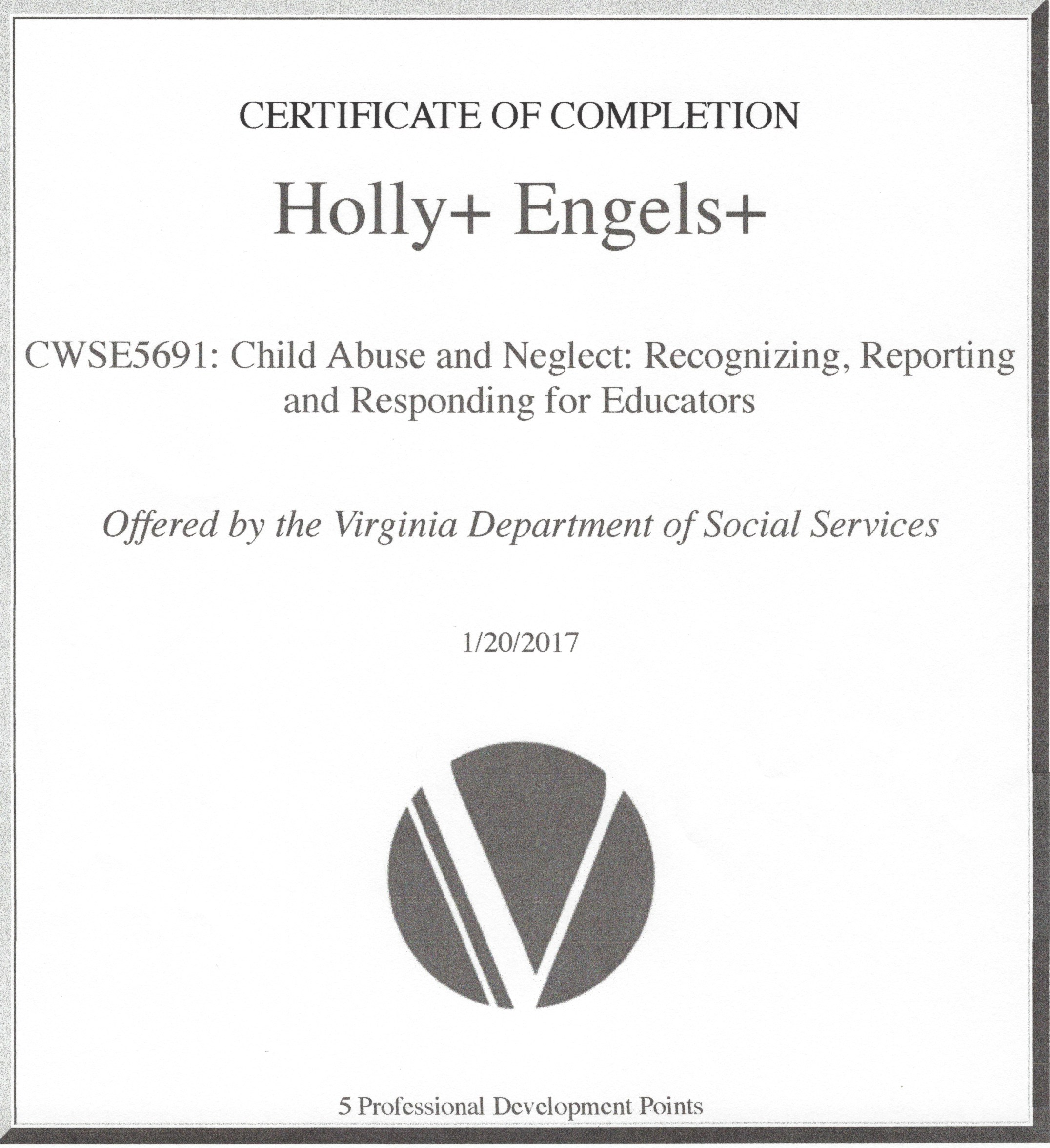 Child abuse and neglect certification holly engels child abuse and neglect certification 1betcityfo Image collections