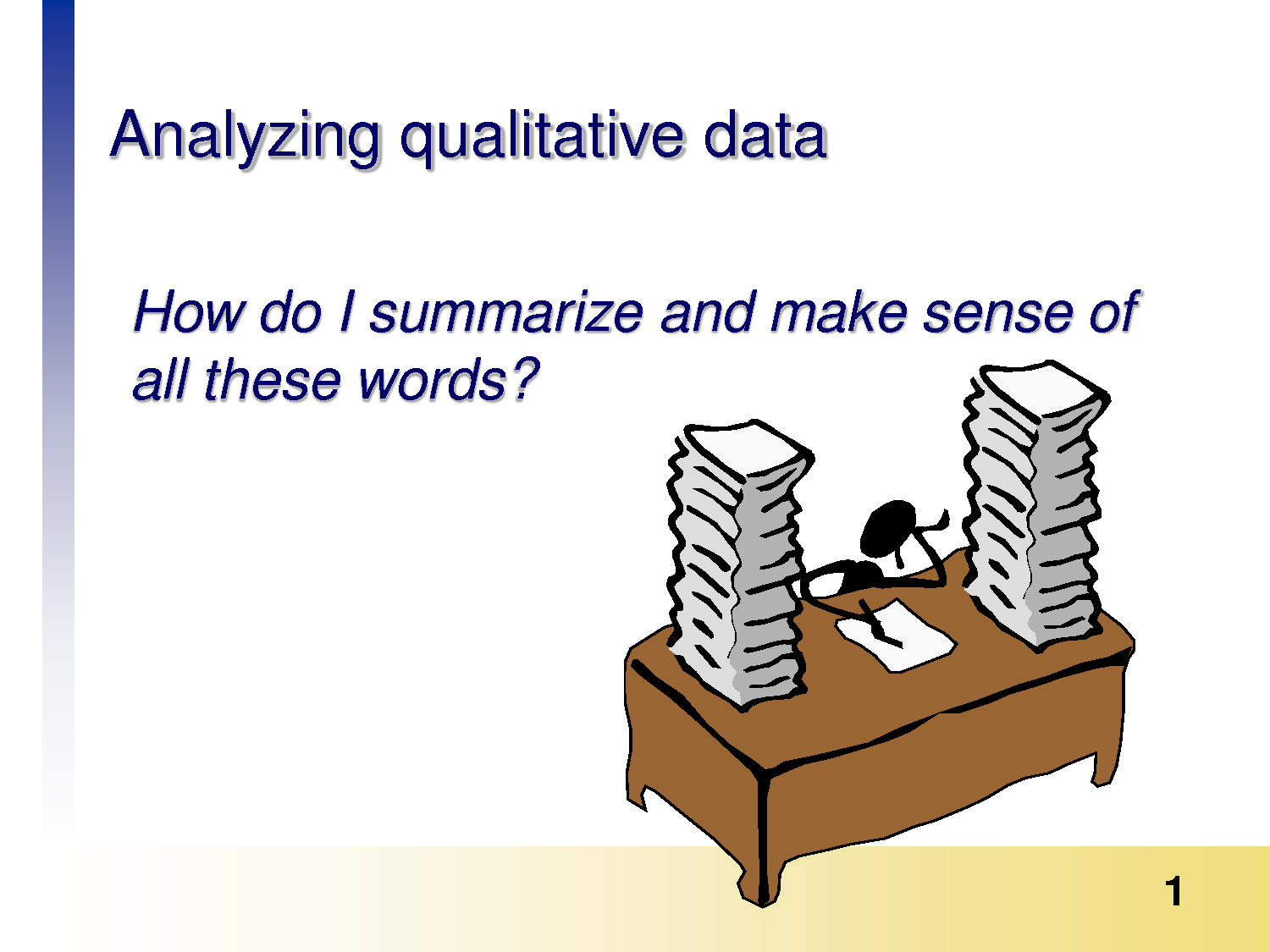 Qualitative Data Analysis Cartoon What might you do to analyze
