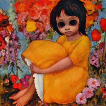 keane-big-eyed-art-in-the-garden-postcard