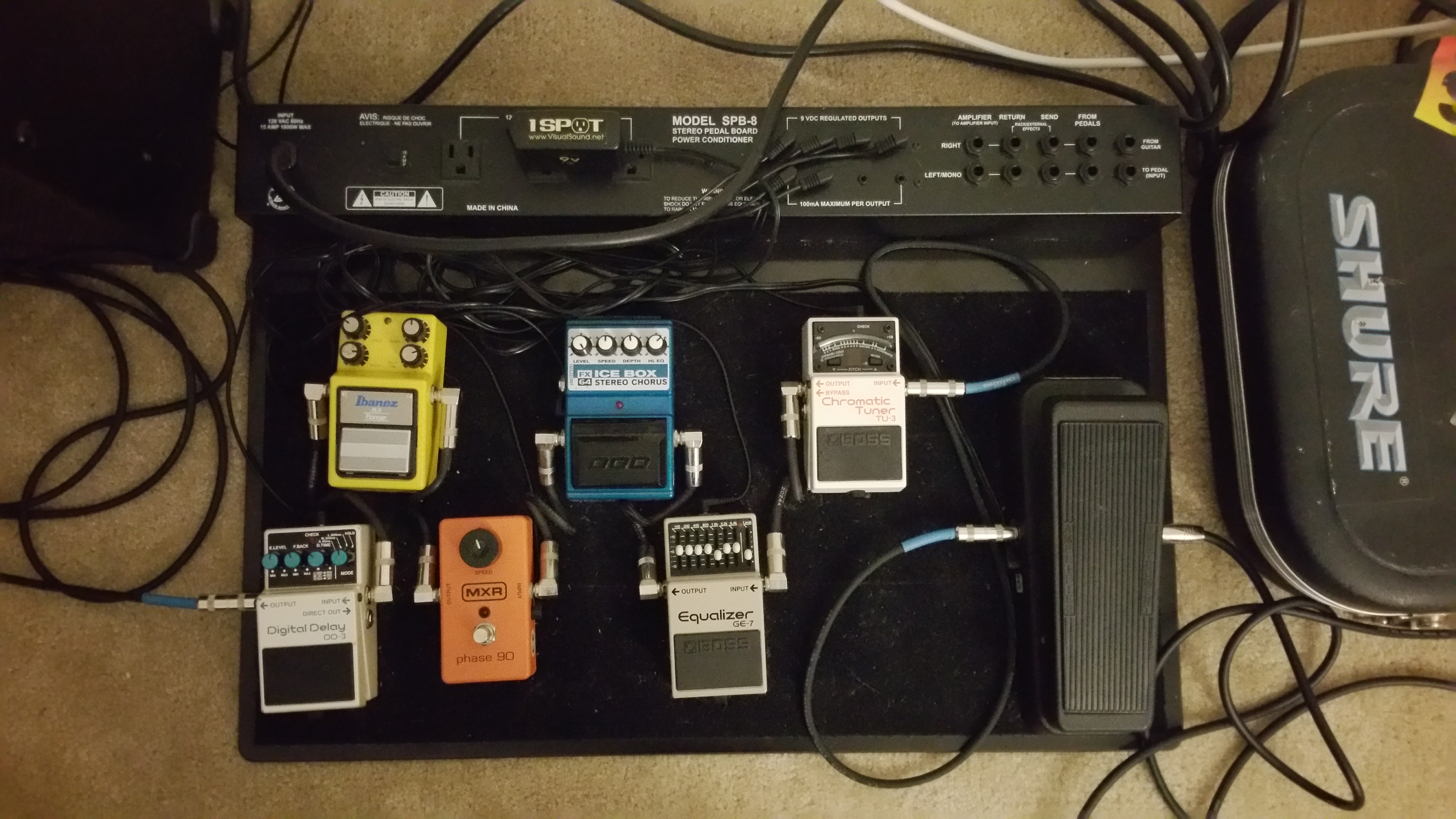Background Equipment And First Song Matthaeus Music At Amp T U Verse Home Wiring Spb 8 Pedal Board Effects From Left To Right Boss Dd 3 Delay Ibanez Fl 9 Flanger Mxr Phase 90 Dod Fx64 Chorus Ge 7 Equalizer Tu