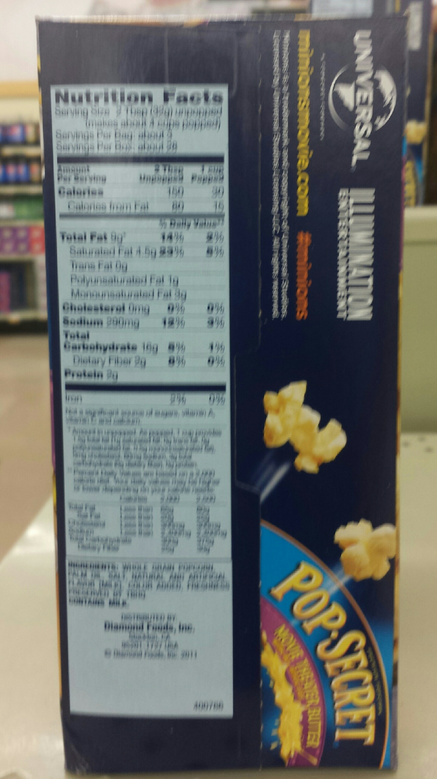 Recipe Microwave Popcorn Nutrition Facts Pop Secret 28
