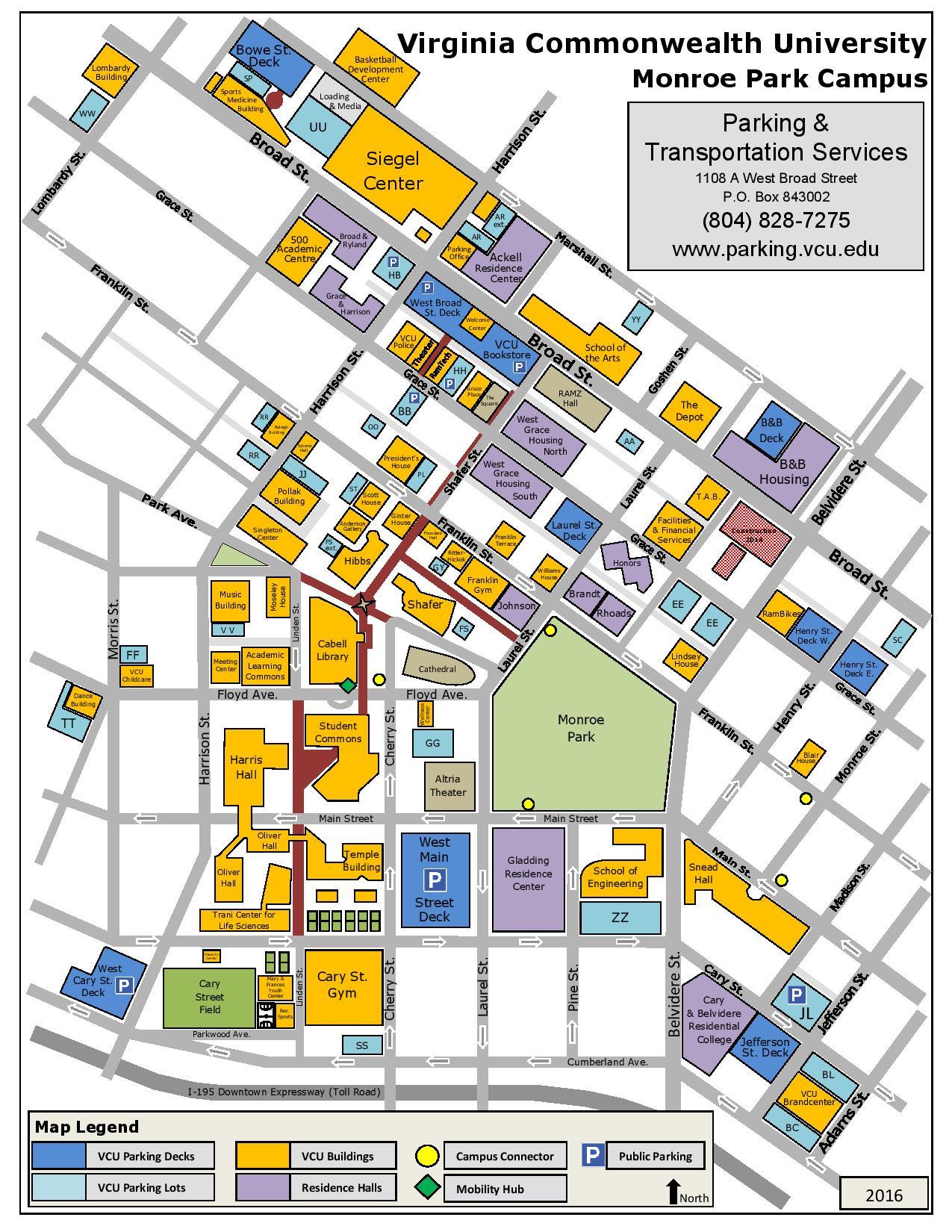 Vcu Campus Map Vcu Mcv Campus Map | Metro Map