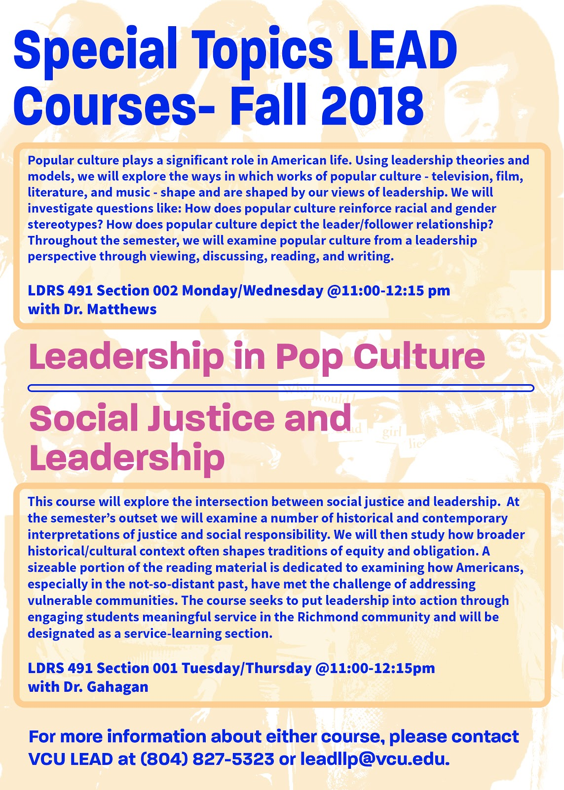 LDRS 491 Section 001 and 002 are open to all students!