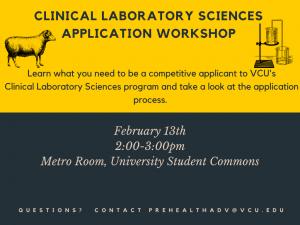 Clinical Lab Sciences application workshop