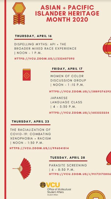 Asian Pacific Heritage activities