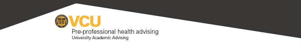 VCU Pre-Professional Health Advising Blog
