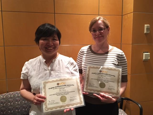 Yin Huang, left, and Rachel Salinas