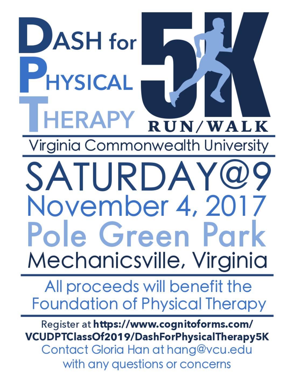 5k Walk/Run – Physical Therapy Student Organization at VCU