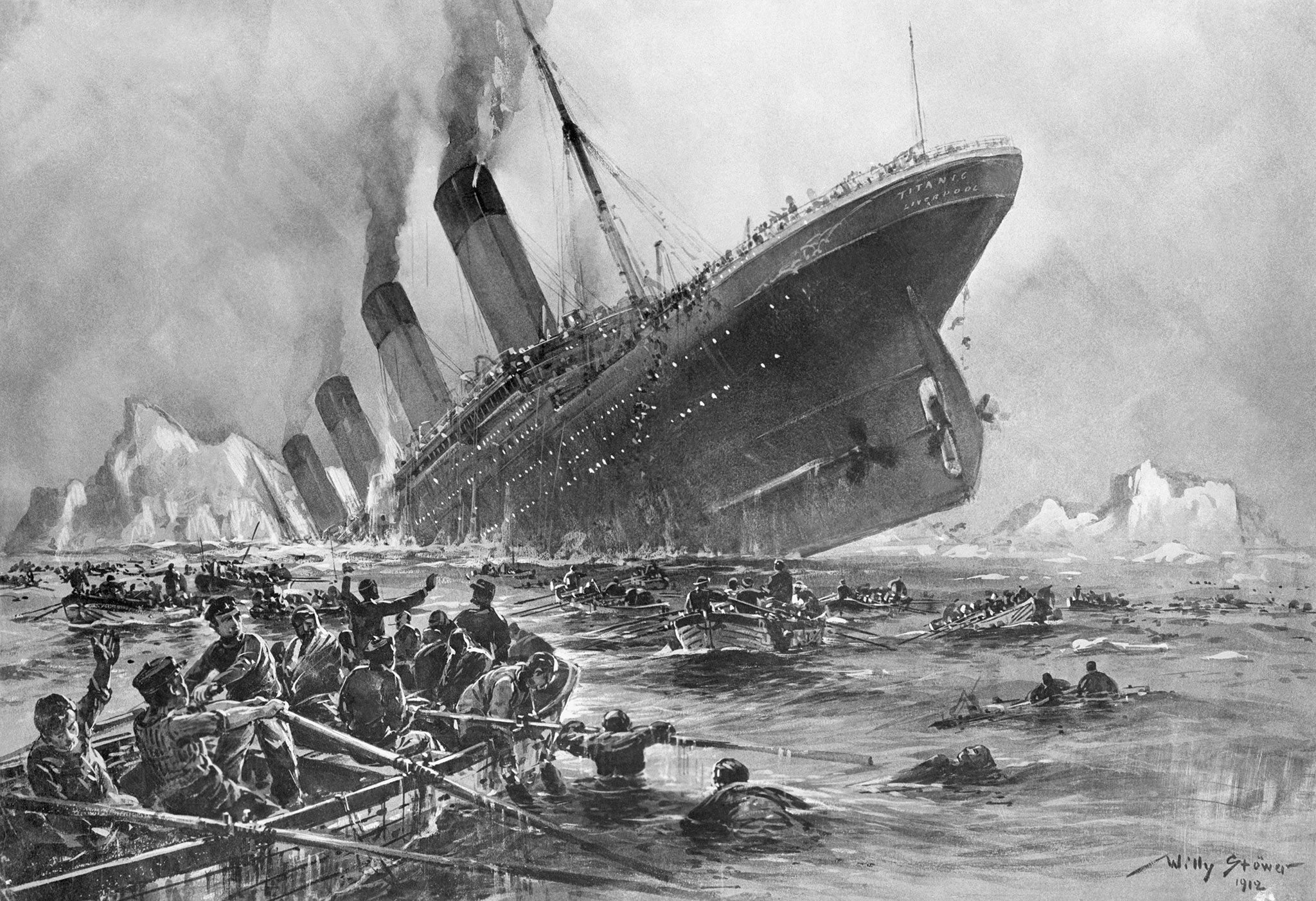 who sank the titanic essay The sinking of the titanic when you think of the titanic, you probably think of the love story between jack dawson and rose dewittbekator, but what the titanic really is, is a british passenger ship weighing in at 63,000 tons and 882 feet long.