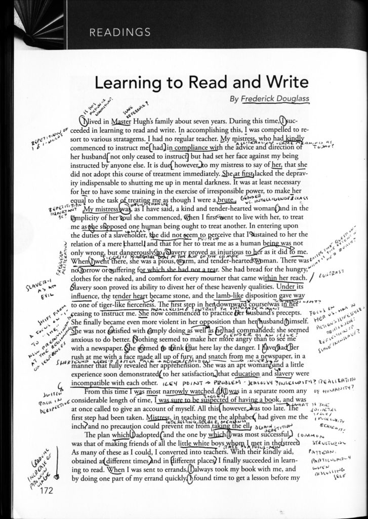 Learning to read and write essay
