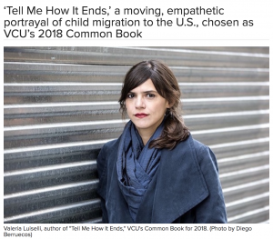 Headline of the article for Tell Me How It Ends with a photo of the author