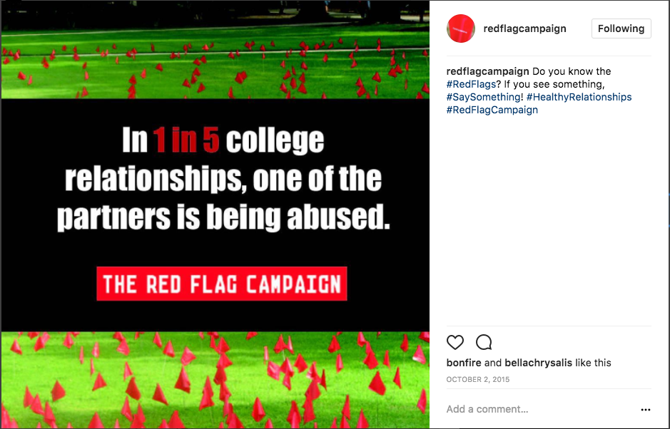 Do you know the #RedFlags? If you see something, #SaySomething! #HealthyRelationships #RedFlagCampaign