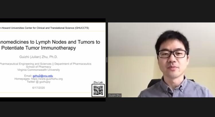 Julian Zhu presenting on Zoom