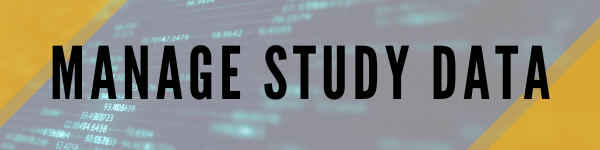 header that says manage study data