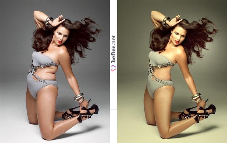 Как сделать человека стройнее в Photoshop кисти для